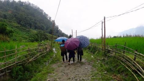 SAPA - H'Mong Guides in the Rain