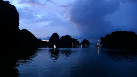 After the Rain - dusk settles over Halong Bay, Vietnam