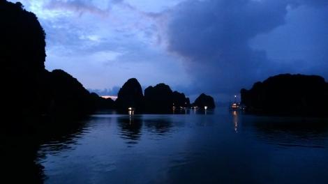 After the Rain - dusk settles over Halong Bay, Vietnam