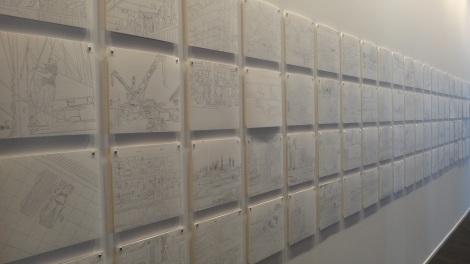 Artist: Mohamed Kazem Title: Window 2011 - 2013, Drawing on Paper
