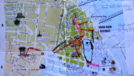 Hanoi - Our Map